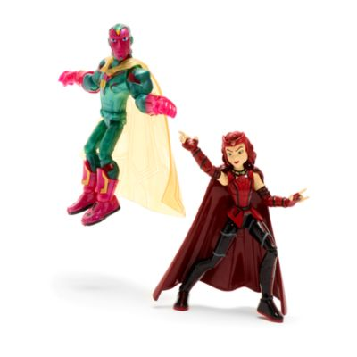 Disney Store Marvel Toybox Scarlet Witch and Vision Action Figure Set