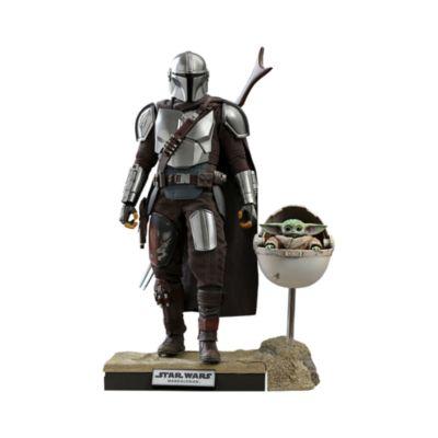 Coppia di personaggi da collezione deluxe in scala 1:6 Il Mandaloriano e Il Bambino Star Wars