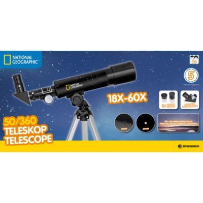 Telescopio 50/360 con treppiede da tavolo National Geographic