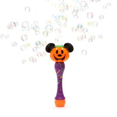 Disney Store Baguette à bulles Mickey citrouille lumineuse