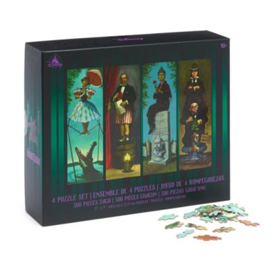 Disney Store The Haunted Mansion 500 Piece Puzzles, Set of 4