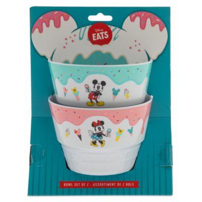 Disney Store Lot de 2bols Mickey et Minnie, Disney Eats