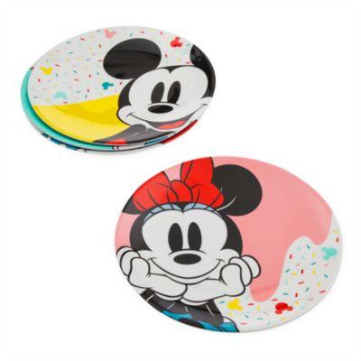 Platos Mickey y Minnie, Disney Eats, Disney Store (4u.)