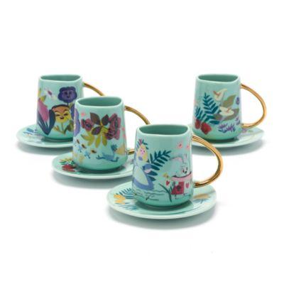 Set con tazzine da tè e piattini Alice nel Paese delle Meraviglie Mary Blair Disney Store