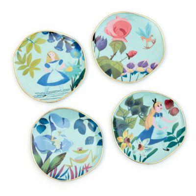 Disney Store Alice in Wonderland Mary Blair Plates, Set of 4