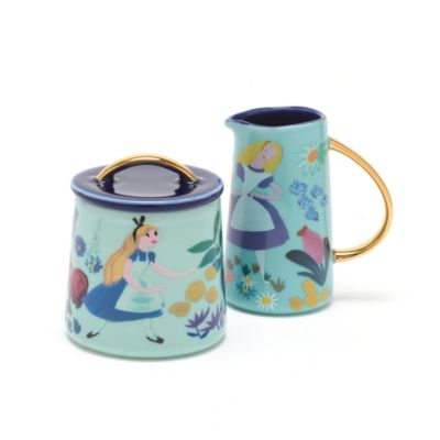 Disney Store Alice in Wonderland Mary Blair Creamer Jug and Sugar Pot