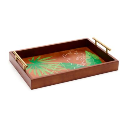 Disney Parks Mickey Mouse Tropical Hideaway Wooden Serving Tray