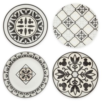 Disney Parks Mickey Mouse Homestead Plates, Set of 4
