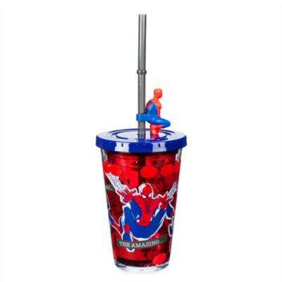 Disney Store Gobelet avec paille Spider-Man