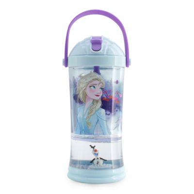 Disney Store Frozen 2 Snow Globe Straw Tumbler