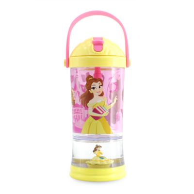 Bicchiere con palla di neve e cannuccia Belle La Bella e la Bestia Disney Store
