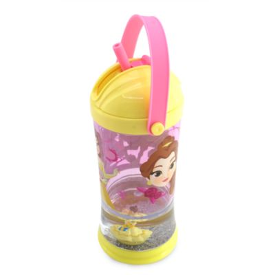 Disney Store Belle Snow Globe Straw Tumbler, Beauty and the Beast