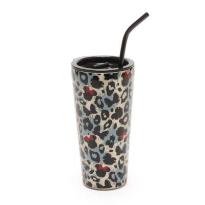 Vaso con pajita animal print Minnie Mouse, Disney Store