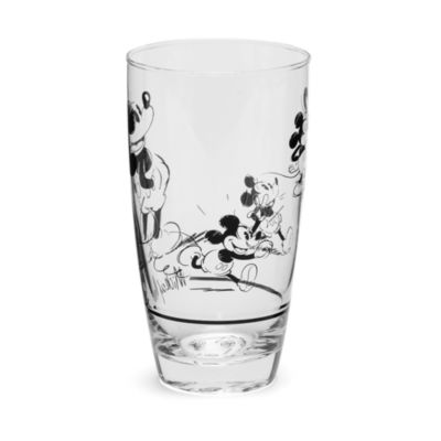 Disney Store Mickey Mouse Signature Glasses, Set of 4