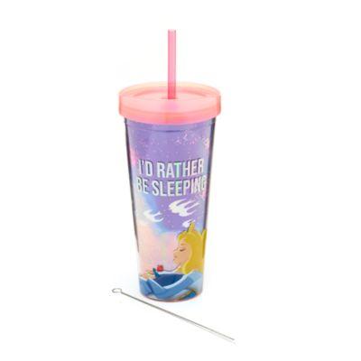 Bicchiere con cannuccia Aurora La Bella Addormentata nel Bosco Disney Store