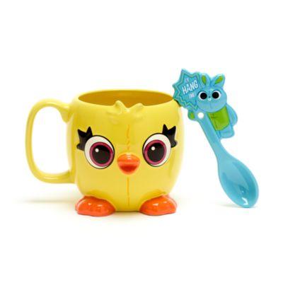 Disney Store - Toy Story4 - Ducky und Bunny - Becher und Löffel