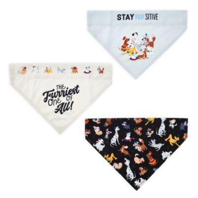 Disney Store Lot de bandanas pour chiens Disney Dogs