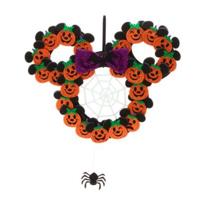 Walt Disney World Mickey and Minnie Halloween Wreath