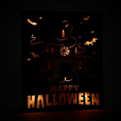 Walt Disney World - Micky und Minnie - Beleuchtetes Halloween-Schild