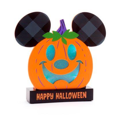 Walt Disney World - Micky Maus im Kürbisdesign - Beleuchtetes Halloween-Schild