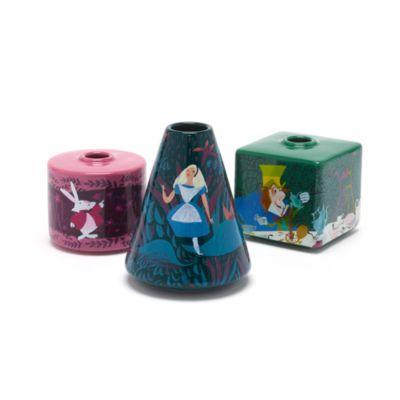 Disney Store Vase Alice au Pays des Merveilles, édition Mary Blair, lot de 3