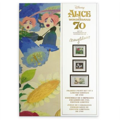 Disney Store Alice in Wonderland Mary Blair Limited Edition Framed Prints