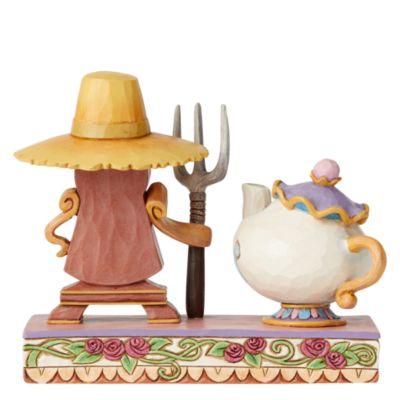 Enesco Mrs. Potts and Cogsworth Disney Traditions Figurine