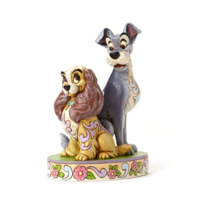 Enesco Lady and the Tramp Opposites Attract Disney Traditions Figurine