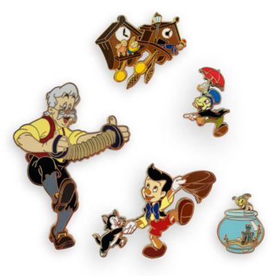Set di pin in edizione limitata Pinocchio Disney Store