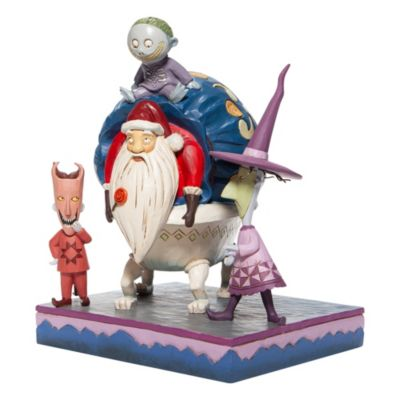 Enesco Lock, Shock and Barrel with Santa Disney Traditions Figurine