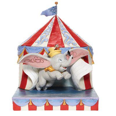 Statuetta Dumbo esce dalla tenda collezione Disney Traditions Enesco