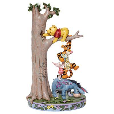 Statuetta Winnie The Pooh e i suoi amici con l'albero del miele Enesco