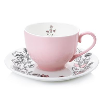 English Ladies Co. Piglet Fine Bone China Teacup and Saucer