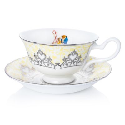 English Ladies Co. Beauty and the Beast Fine Bone China Teacup and Saucer