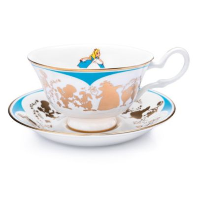 English Ladies Co. Alice in Wonderland Fine Bone China Teacup and Saucer