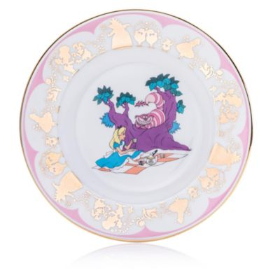 English Ladies Co. Alice and Cheshire Cat Fine Bone China Collector Plate