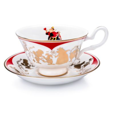 English Ladies Co. Queen of Hearts Fine Bone China Teacup and Saucer