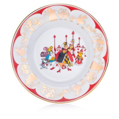 English Ladies Co. Alice and Queen of Hearts Fine Bone China Collector Plate