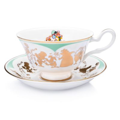 English Ladies Co. Mad Hatter and March Hare Fine Bone China Teacup and Saucer