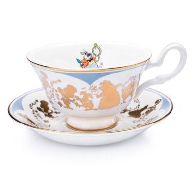 English Ladies Co. White Rabbit Fine Bone China Teacup and Saucer