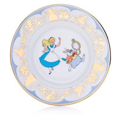 English Ladies Co. Alice and White Rabbit Fine Bone China Collector Plate