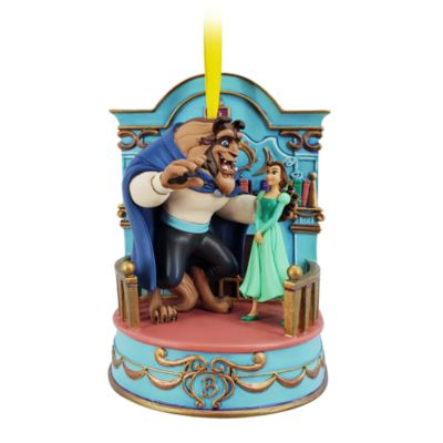 Disney Store Décoration musicale La Belle et la Bête à suspendre