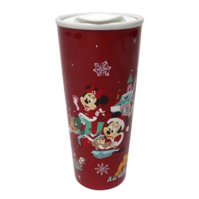 Disney Store Mickey and Friends Holiday Cheer Travel Mug