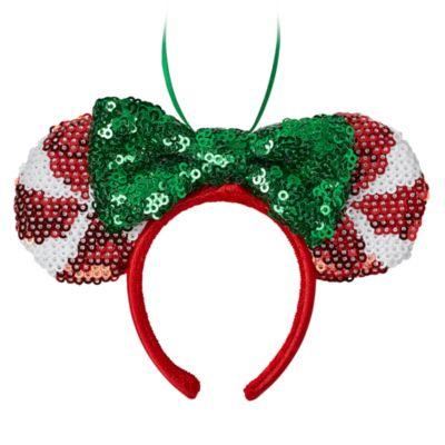 Disney Store Minnie Mouse Festive Ears Headband Hanging Ornament