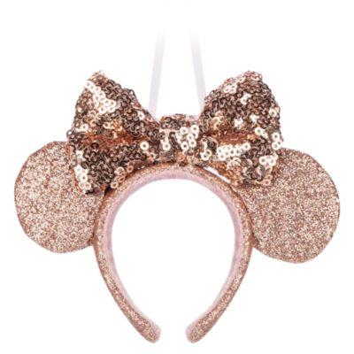 Disney Store - Minnie Maus - Goldfarbener Haarreif mit Ohren - Dekorationsstück zum Aufhängen