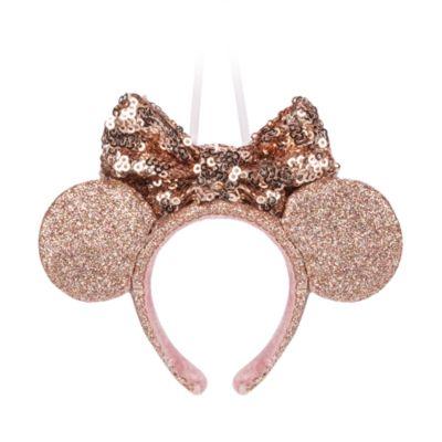 Adorno colgante dorado diadema con orejas Minnie Mouse, Disney Store