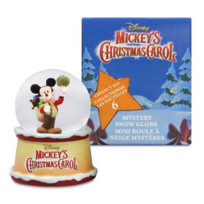 Disney Store Mickey's Christmas Carol Mystery Snow Globe
