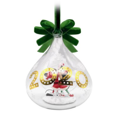 Disney Store Mickey and Minnie Holiday Cheer 2020 Hanging Ornament