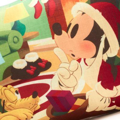 Disney Store Mickey, Minnie and Pluto Festive Cushion