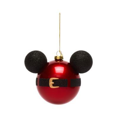 Disney Store Décoration Tête de Mickey Père Noël à suspendre